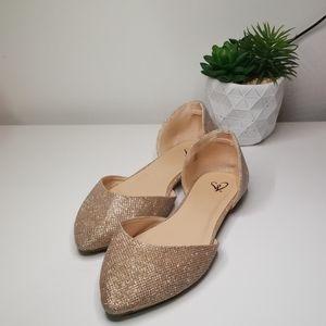 Windsor glitter flat shoes